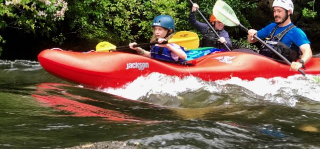 What can adults learn from teaching kids to white water kayak?